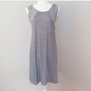 Stylus Black and White Stripe Jersey Dress Size L